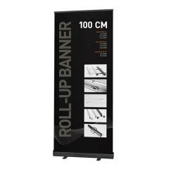 Roll-up Banner Alu Black 100cm